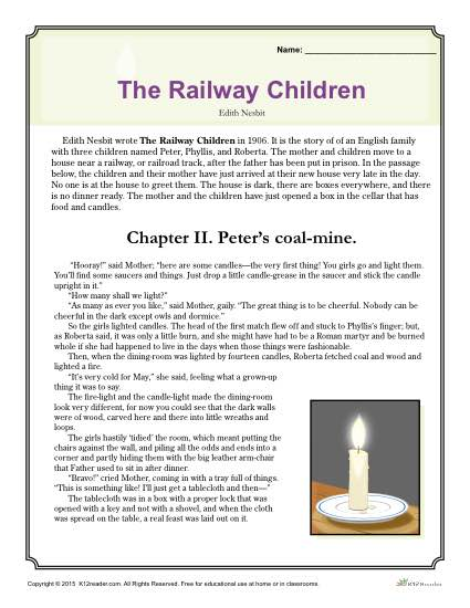 The Railway Children - Free, Printable Reading Comprehension Set