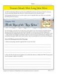 Treasure Island Book Activity - Meet Long John Silver