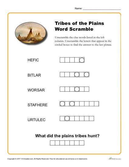 photograph regarding Printable Word Scrambler referred to as Indigenous American Record Thirty day period Phrase Scramble Game
