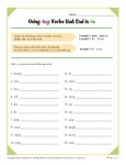 Spelling Rules - Using -ing Verbs That End in -ie