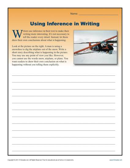 using inference in writing worksheets for high school. Black Bedroom Furniture Sets. Home Design Ideas