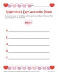 Printable Valentine's Day Acrostic Poem Activity