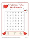Valentine's Day Word Search Activity