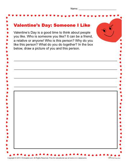 Free, Printable Valentine's Day Activity - Draw a Picture