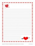 Valentine's Day Writing Paper for Kids