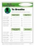 Verb Conjugation Worksheet - To Breathe
