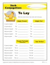 Verb Conjugation: To Lay