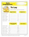 Verb Conjugation: To Lay