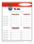 Verb Conjugation Worksheets - To Do