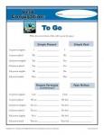 Verb Conjugation Worksheet - To Go
