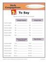 Verb Conjugations: To Say