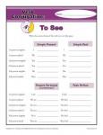 Verb Conjugation Worksheet - To See