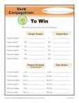 Verb Conjugation Worksheet - To Win