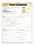 Future Continuous Verb Tenses Worksheet