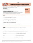 Verb Tenses Worksheet - Present Perfect Continuous