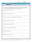 Verbals Worksheet Activity - Participle or Gerund?
