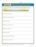 Verbals Worksheet - Writing with Gerunds