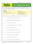 Practicing Verbs Worksheet Activity - The Subjunctive Mood