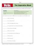 Practicing Verb Worksheet - The Imperative Mood