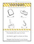 Vowel Diagraphs Worksheet Activity for Kids