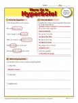 Printable Hyperbole Warm Up Activity for Class or Home