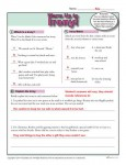 Printable Irony Warm Up Activity for Class or Home