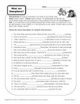 What are Homophones - Free, Printable Worksheet Activity