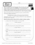 What is a Metaphor - Printable Worksheet Activity