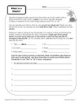 What is a Simile? Printable Worksheet Activity