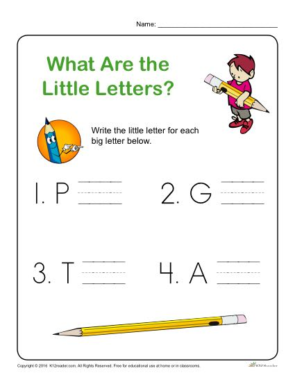 Preschool Letter Worksheets - What are the Little Letters?