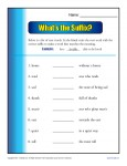 Suffix Worksheet - What's the Suffix?