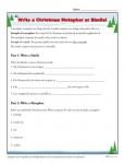 Free, printable Christmas Worksheet - Write a Metaphor or Simile