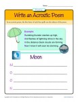 Poetry Worksheet Activity - Write an Acrostic Poem
