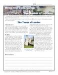 Printable Worksheet about Writing Conclusions - The Tower of London