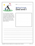 Printable Father's Day Writing Prompt - Dad and I