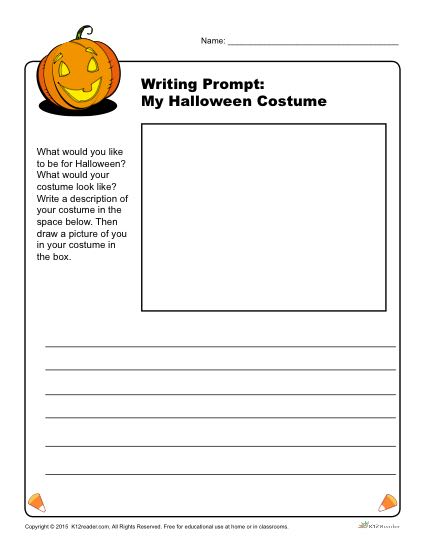 My Halloween Costume Writing Prompt