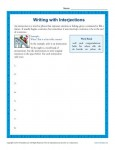 Writing Worksheet Activity - Interjections